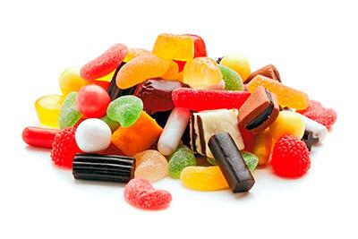 Dulces y golosinas con azucar que perjudican la salud canina