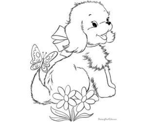 Perro en flores