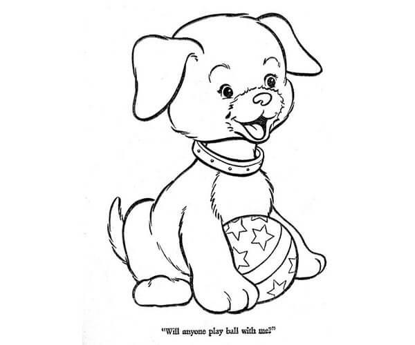 Dibujos Para Imprimir Y Colorear De Perros: 35 Imágenes De Perros Para Colorear E Imprimir