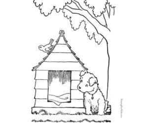 Un perro y su casita