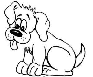 Perro sacando la lengua