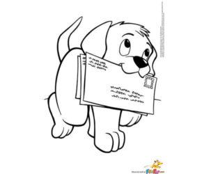 Perro trae correspondencia