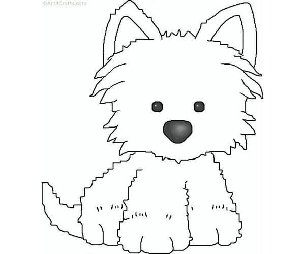 Dibujos Infantiles De Perros Para Colorear: Colorear Perritos. Free Perros Pequeos Para Colorear