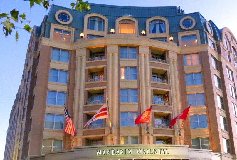 Foto del lujoso hotel Mandarin Oriental ubicado en Washington